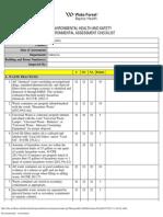 Assessment Checklist Environmental
