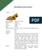 Deksripsi Beberapa Mineral