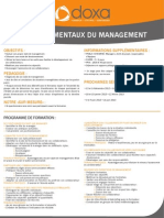 Formation Les Fondamentaux Du Management 2012-2013