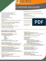 Formation Management animer et motiver son équipe 2012-2013