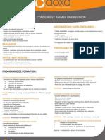 Formation Management Préparer, conduire et animer une réunion 2012-2013