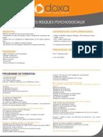 Formation Management pour Manager Les Risques Psychosociaux 2012-2013