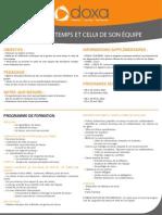 Formation Management Gérer son temps et celui de son équipe 2012-2013