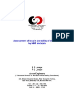 Assessment of Loss in Durability of Structures by NDT Methods