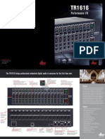 dbx Professional TR1616 Brochure