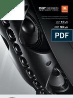 JBL Professional CBT Series Brochure 0712