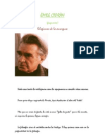 Émil Cioran -de Silogismos de la amargura-