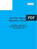 Admiralty Handbook of Wireless Telegraphy 1938 Vol 1 Searchable With Cover
