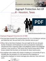 Employee Polygraph Protection Act Of 1998 - Houston, Texas