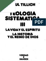 Tillich, Paul - Teologia Sistematica III