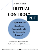 Are You Under Spiritual Control? Charisma Magazine July 1992