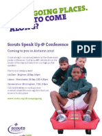 Conference Flyer for Scouts Speak Up