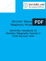Admiralty Handbook of Wireless Telegraphy Vol 2 Searchable. With Cover