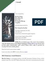 2012 Democracy Award_USA_Democracy Movement of Burma