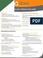 Formation efficacité professionnelle et développement personnel pour Canaliser Son Stress et Agir 2012-2013