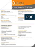 Formation efficacité professionnelle et développement personnel pour Augmentez Vos Performances de Lecture 2012-2013