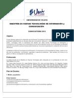MAESTRÍA EN NUEVAS TECNOLOGÍAS DE INFORMACIÓN y COMUNICACIÓN  2013