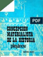 Plejánov, G. - Concepción materialista de la historia [ed. Rojo, 1973]