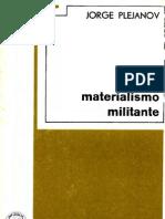 Plejánov, G. - Materialismo militante [1907] [ed. Grijalbo, 1967]