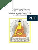 Homage Prayer to the Hundred Lives of Buddha Shakyamuni - Third Karmapa, Ranjung Dorje - 39-En