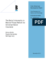 The End of Informality in Mexico Fiscal Reform for Universal Social Insurance
