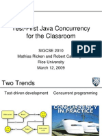 Test-First Java Concurrency for the Classroom