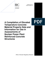 A Compilation of Elevated Temperature Concrete Material Property Data and Information for Use in Assessments of Nuclear Power Plant Reinforced Concrete Structures