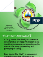 Seminar on Drug Master File