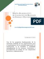 Diseño  de Manuales de Normas y Procedimientos