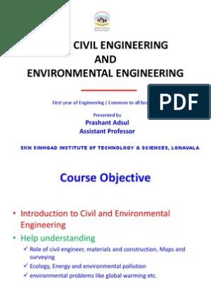 UNIT I BCEE PPT | Surveying | Geotechnical Engineering