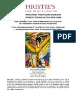 $20-30 Million Kandinsky Study to Lead Christie's NY Evening Sale of Impressionist & Modern Art in November