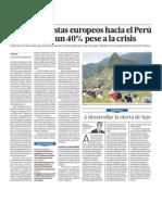 Turismo Europeos Crece Peru