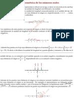 Representación geométrica de los números reales