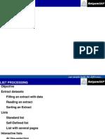 SAP ABAP List Processing