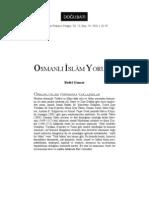 Bedri Gencer-Osmanlı İslam Yorumu