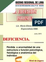 Educacion Inclusiva Ebe