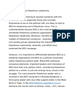 The BDS is Not the Palestinian Leadership