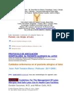 Alergia   al  Latex  enlaces  y protocolos  de Actuación....