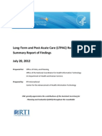 Long-Term and Post-Acute Care (LTPAC) Roundtable Summary Report of Findings