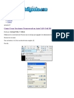 Crear Secciones Transversal en AutoCAD Civil 3D
