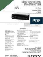 Sony Cdx-gt130,Gt180,Gt230,Gt280,Gt280s,Gt282s Ver-1.0 Sm