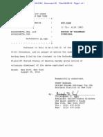 US v Rojadirecta Voluntary Dismissal