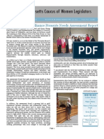 Massachusetts Caucus of Women Legislators Newsletter Summer 2012