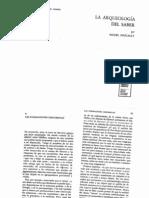 """FOUCAULT """"Las formaciones discursivas"""" en La Arqueologia Del Saber"""