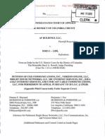 12-8011 CADC - Comcast et al Petition - AF Holdings v. Does 1-1,058