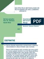 Hernia de Disc Lombara Operata