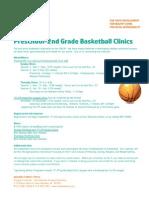 Fall 2012 Pre-2nd BB Clinics Flyer