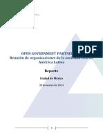 Reunión Sociedad Civil OGP América Latina