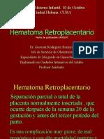hematoma retroplacentario