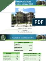 Informe Gestion Decano Medicina 2011-2012
